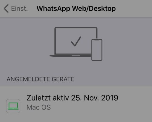Whatsapp Web Mac Einstellungen