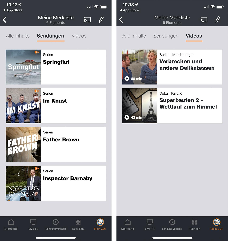 Zdf Mediathek App Screenshots