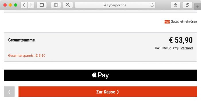Apple Pay Safari