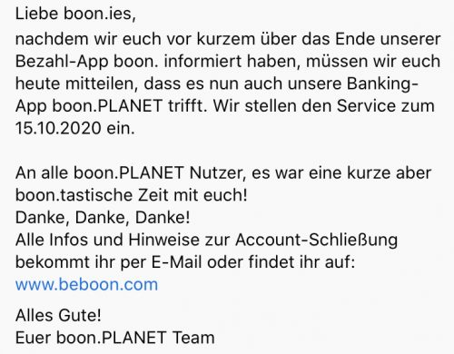 Boon Planet Insolvenz