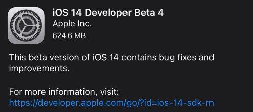 Ios 14 Beta 4