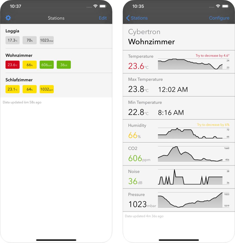 Netatmo Comfort App Iphone