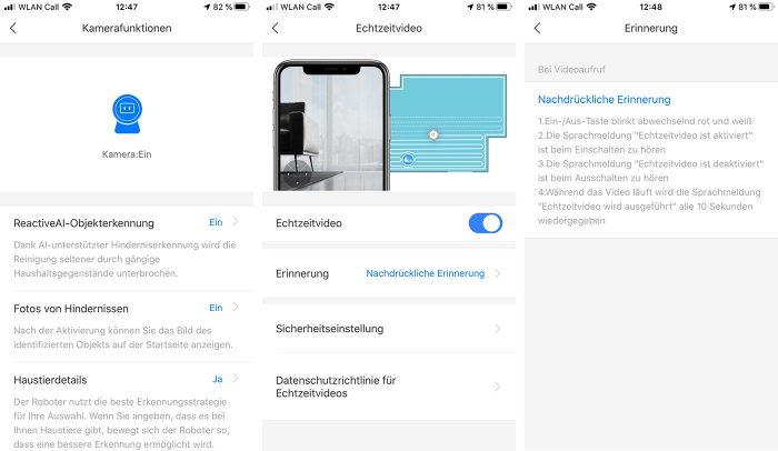 Roborock Kamerazugriff App Einstellungen