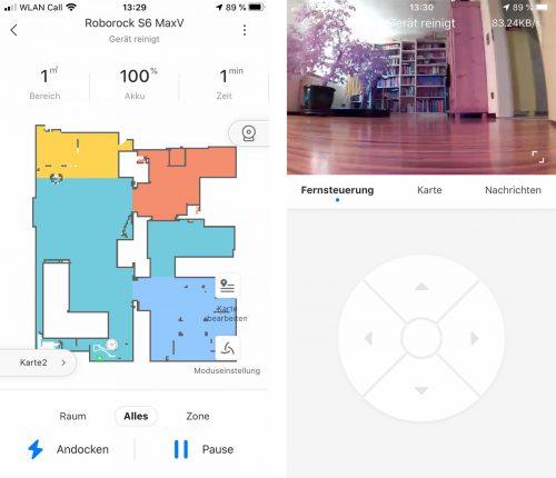 Roborock S6 Maxv Kamera In App