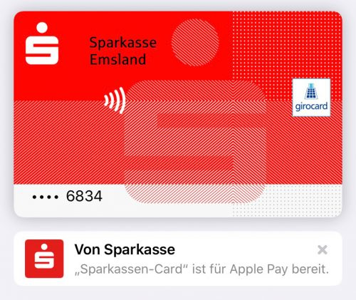 Sparkasse Debit Card Girokarte Apple Pay