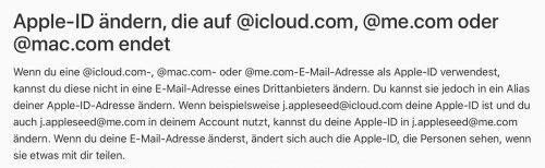 Apple Email Adressen Support Dokument