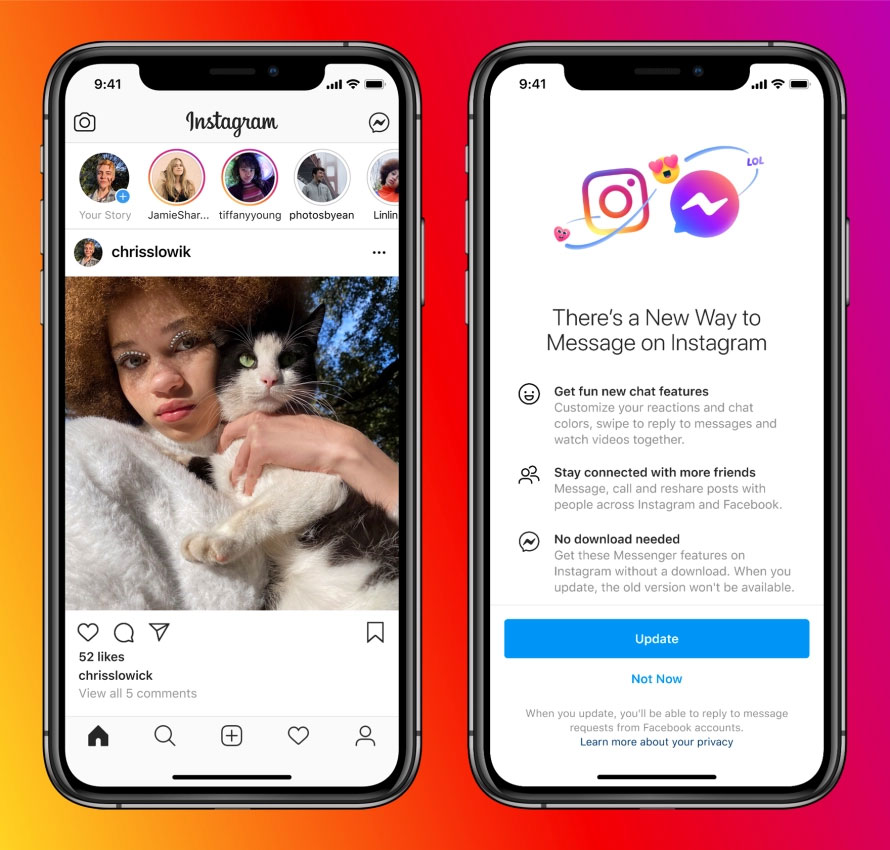Facebook: Instagram und Messenger wachsen zusammen
