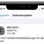 Schnelle Fehlerbehebungen: Apple veröffentlicht iOS 14.0.1