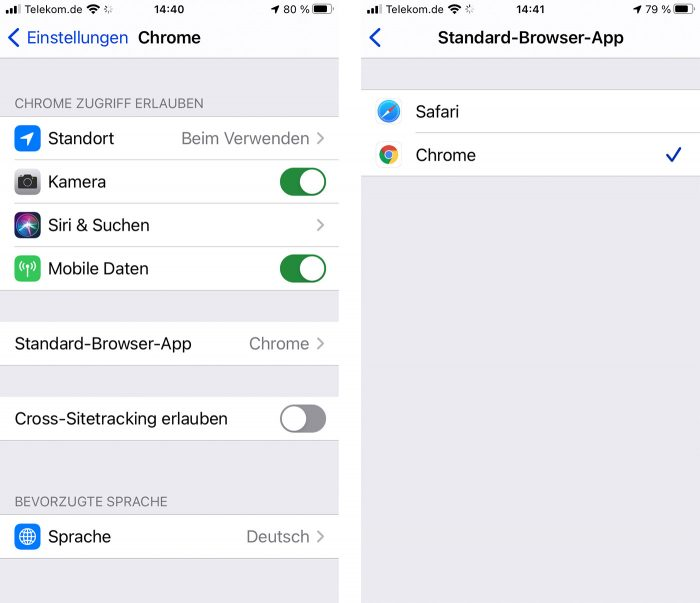 Ios 14 Chrome Als Standard Browser