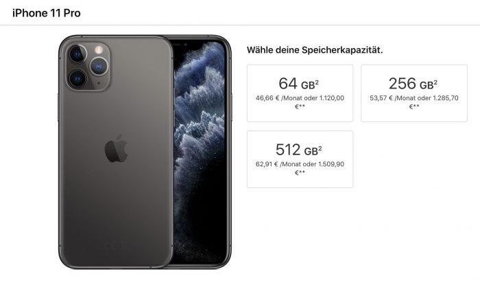 Iphone 11 Pro Speicher