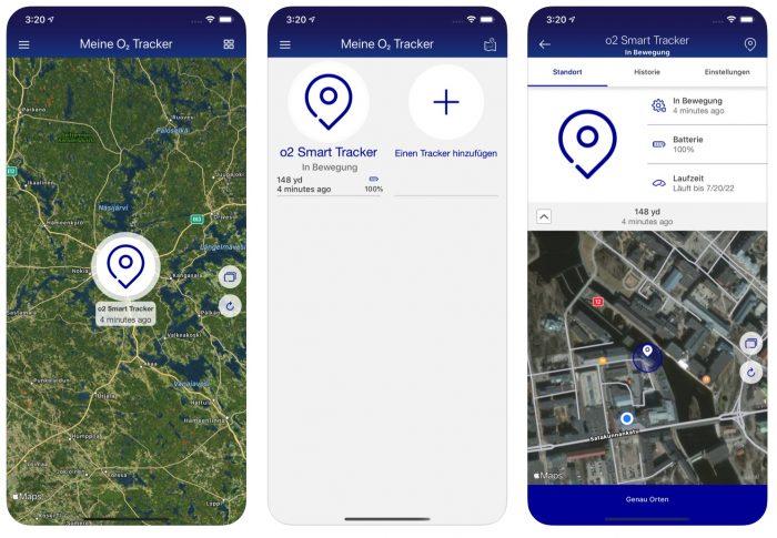 O2 Smart Tracker App