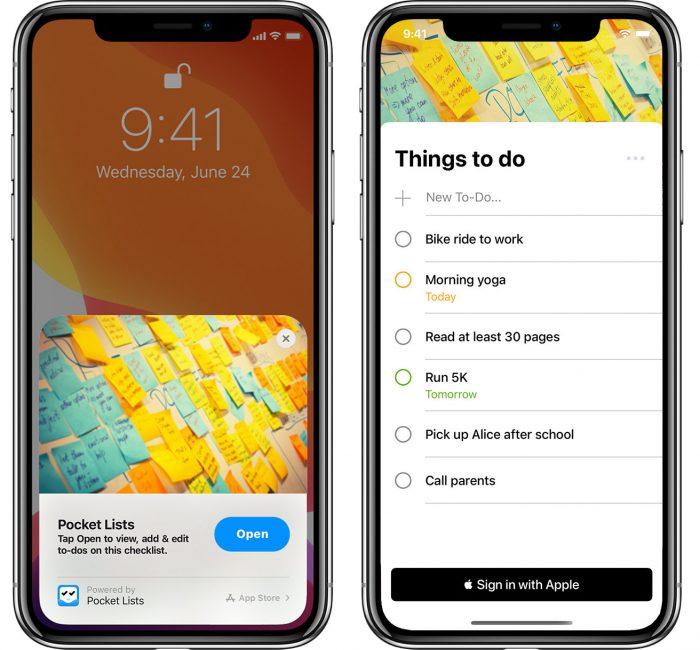 Pocket Lists App Clip
