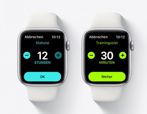 Stehziel Trainingszeil Apple Watch