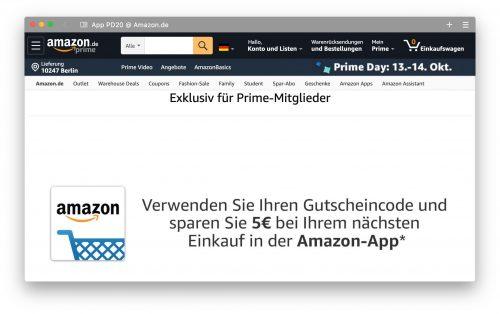 Amazon App Aktion