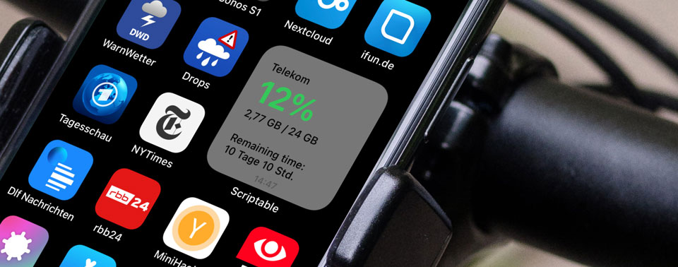 Selber machen: iPhone-Widgets zeigen Datenvolumen und Webinhalte