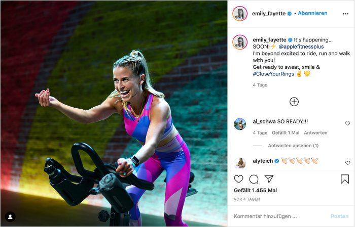 Apple Fitness Plus Instagram
