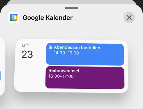 Google Kalender Als Widget