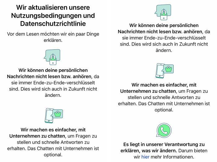 Whatsapp Datenschutzrichtlinie Aenderungen Mai 2021