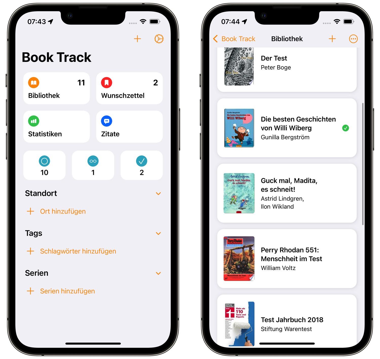 """Der Buchkatalog """"Book Track"""": Eine tolle iPhone-App für Lesefreunde"""